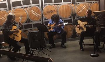 Steve Nichols, Cecil McBee Jr.,& Guy Gonzales at La Mesa Wine Works
